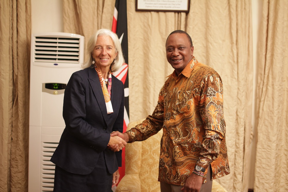 IMF's Managing Director Ms Christine Lagarde and H.E. President of the Republic of Kenya Uhuru Kenyatta