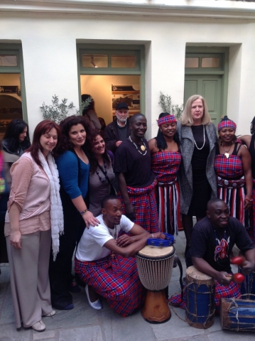 The Honorary Consul with members of Sophia Foundation and the music group Africa Voice