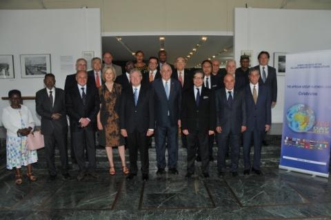 Πρέσβεις και Πρόξενοι ε.τ. Αφρικανικών χωρών μαζί με τον Υφυπουργό Εξωτερικών, κο Τέρενς-Νικόλαο Κουίκ (ΥΠΕΞ, 2α Μαΐου 2018).
