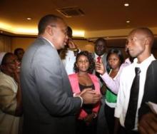 H.E. President Uhuru Kenyatta meets Kenya Diaspora in Uganda.