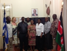 Kenyan delegation in Hon.Consulate in Athens June 2014